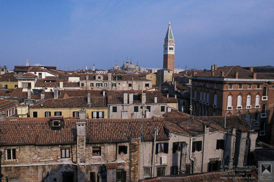 Venice from the rooftops