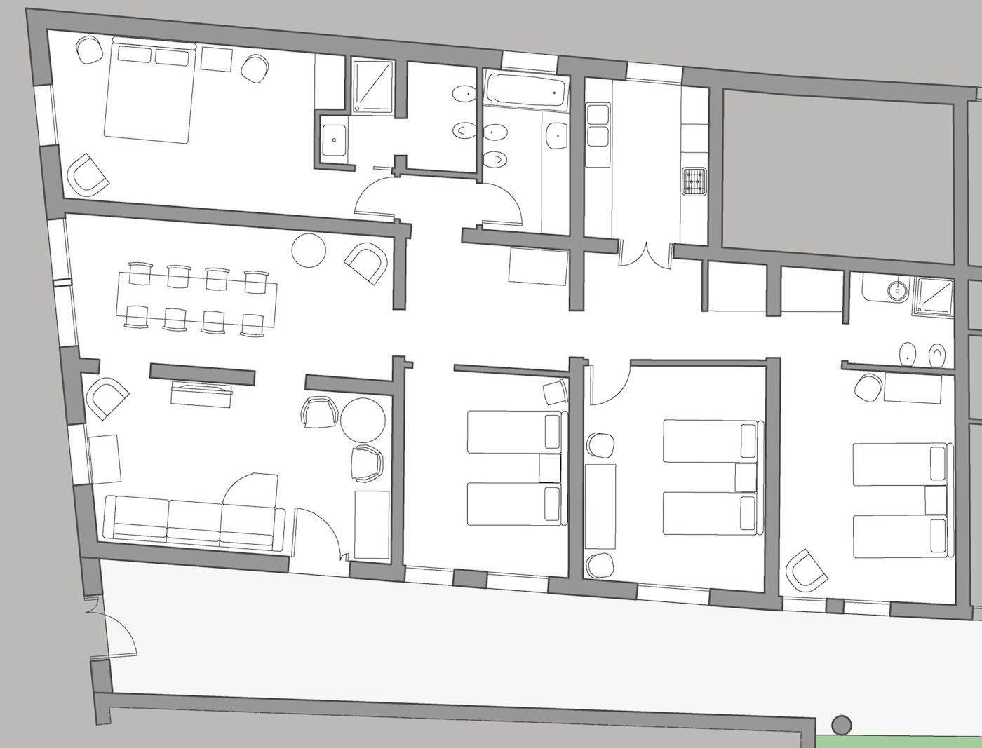 Palladio floor plan