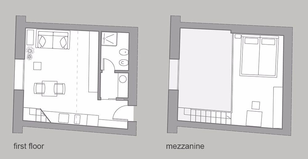 San Trovaso Loft floor plan