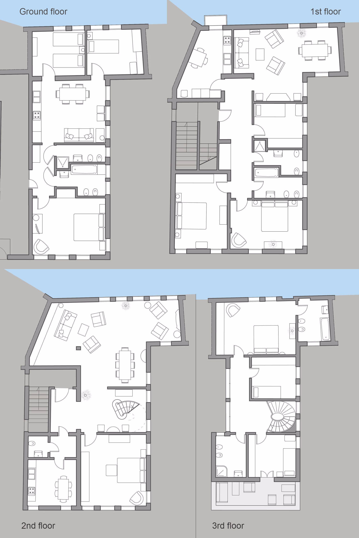 Palazzo Degli Angeli floor plan